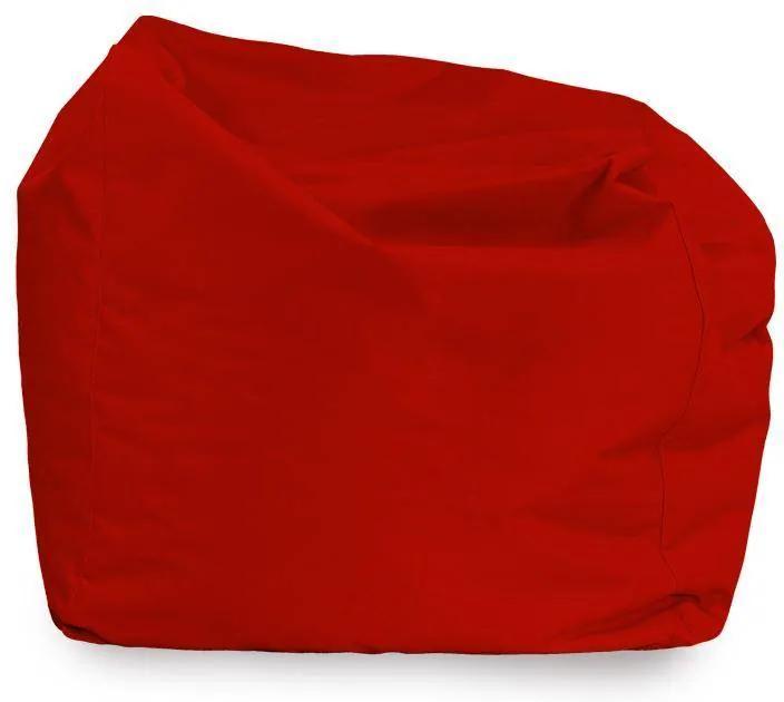 Sedací vak AMALFY nylon - červený