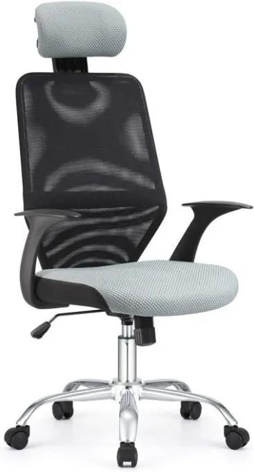 JR T Kancelárska stolička, čierna/sivá REYES