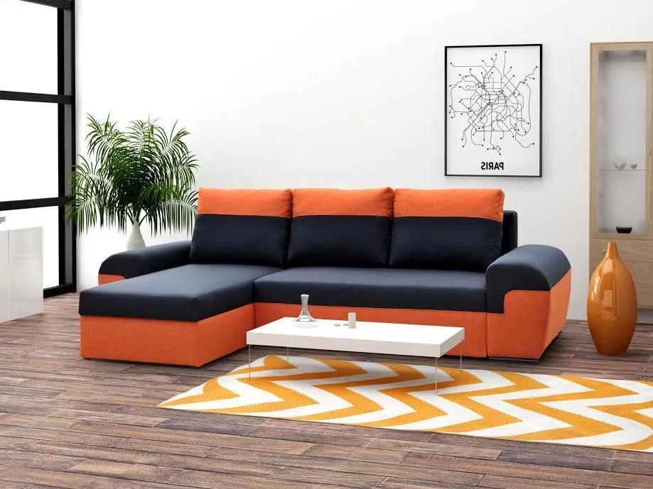 Moderná sedacia súprava Moreton, Oranžová