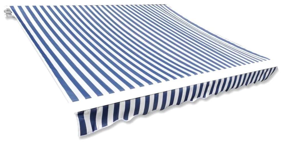 vidaXL Tieniaca plachta na markízu, modro biela 3x2,5 m (bez rámu)