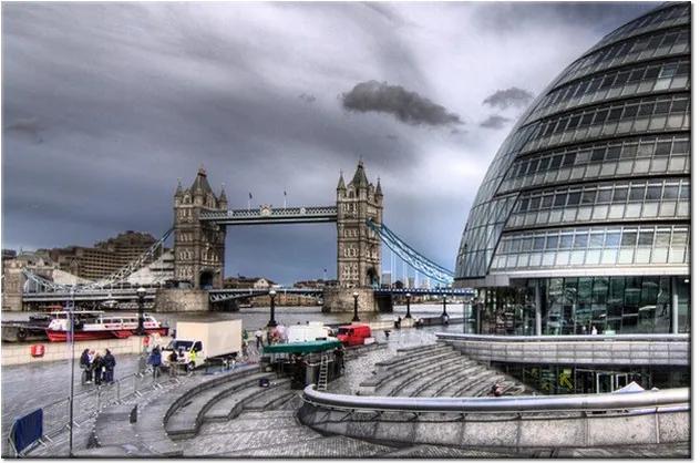 Tlačený obraz Tower Bridge z diaľky 1098A_1T