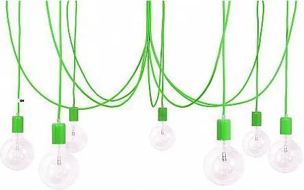 Závěsný lustr IMIN 7 žárovek,lak green IMINDESIGN 1234566