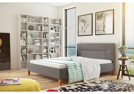 Čalúnená posteľ KAROLINA šedá rozmer 140x200 cm