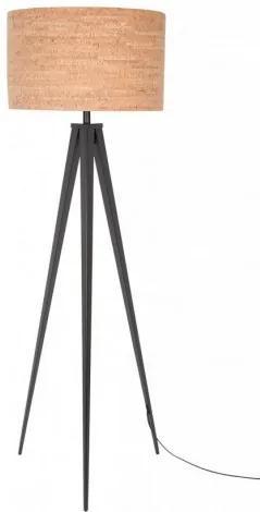 Stojací lampa Tripod CORK Black Zuiver 5100050