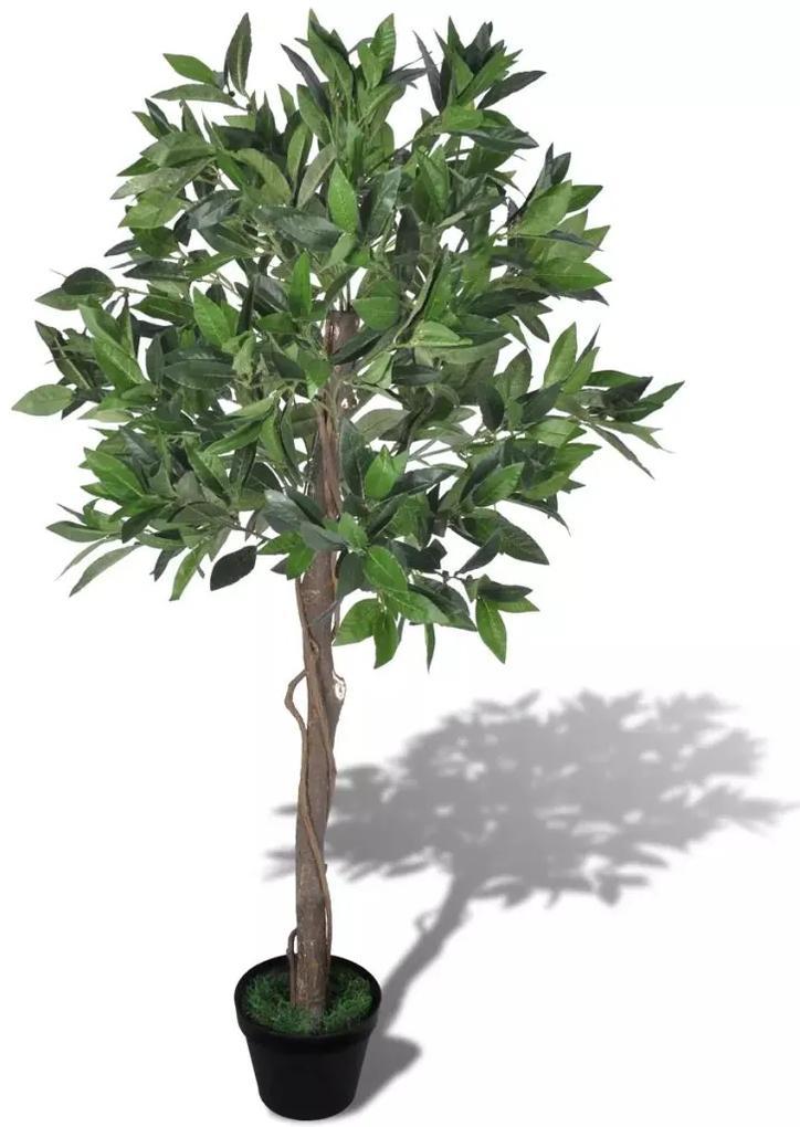 vidaXL Umelá rastlina v kvetináči, vavrín 120 cm