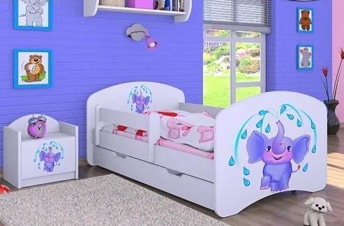 MAXMAX Detská posteľ so zásuvkou 160x80cm sloník 160x80 pre dievča ÁNO