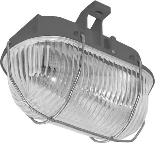 Panlux SOK-60/S - Vonkajší stropné svietidlo OVAL KOV 1xE27/60W/230V sivá