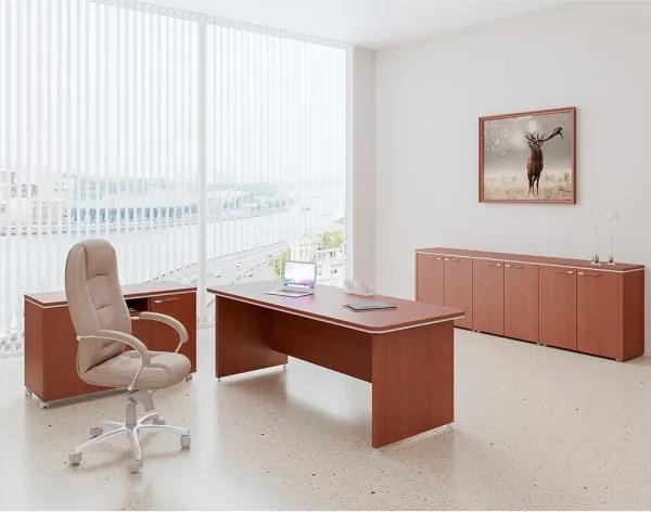 Zostava kancelárskeho nábytku TopOffice 4 višňa
