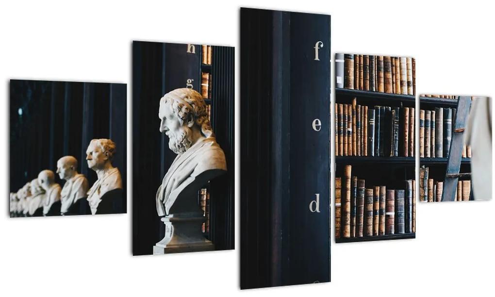 Obraz - V knižnici (125x70 cm), 40 ďalších rozmerov