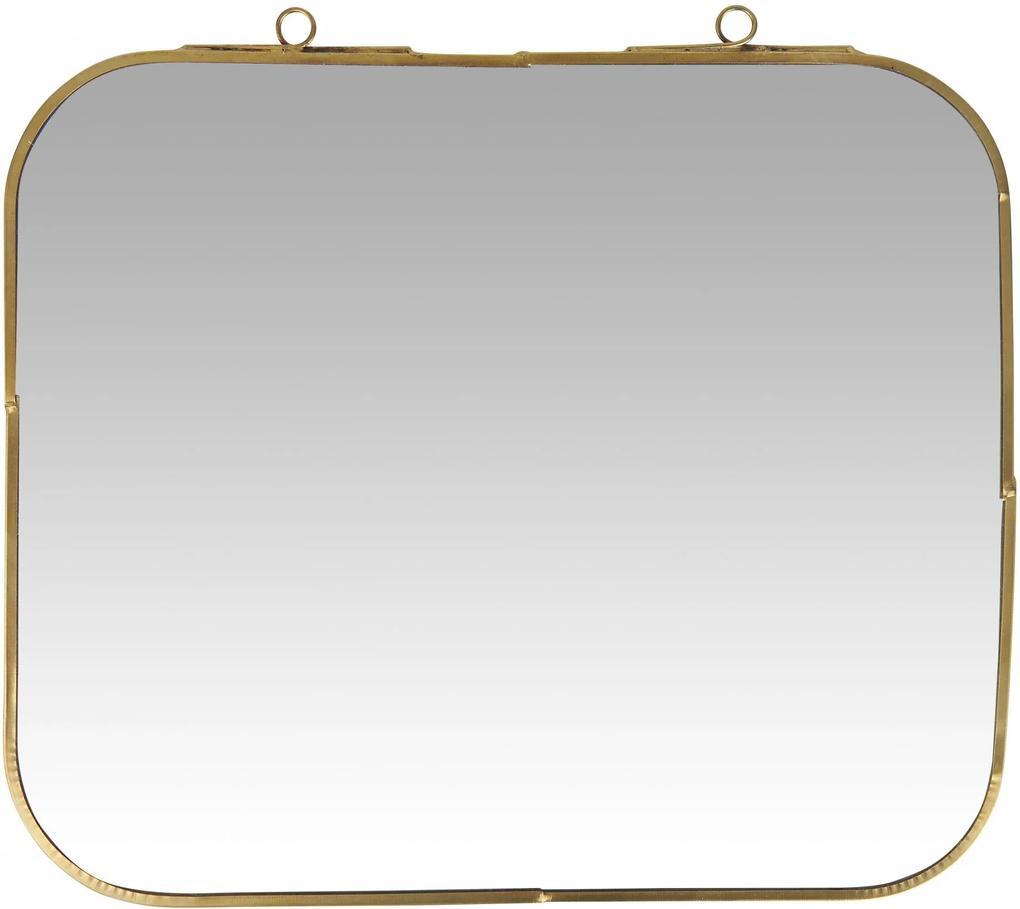 IB LAURSEN Nástenné zrkadlo v kovovom ráme Brass