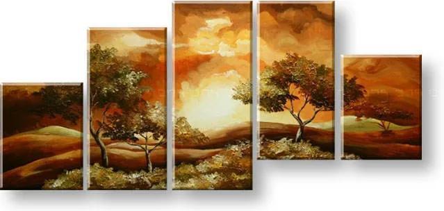 Maľovaný obraz na stenu KRAJINA FB343E5