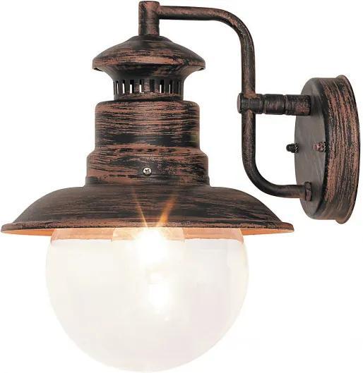Rábalux Odessa 8163 Vonkajšie Nástenné Lampy  antický hnedý   kov   E27 MAX 60W   IP44