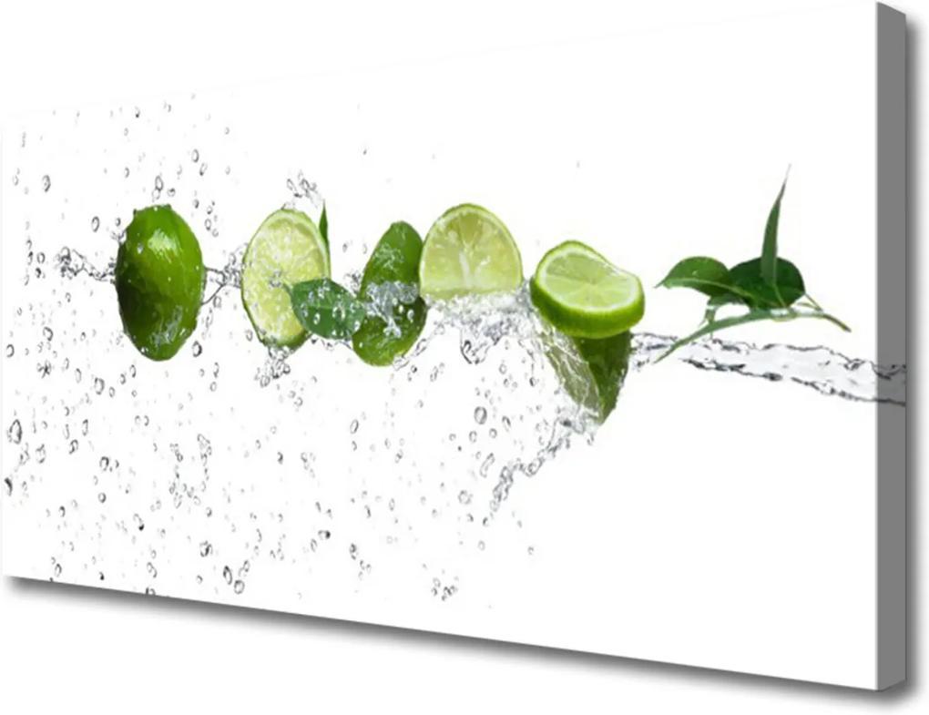Obraz Canvas Limetka voda kuchyně