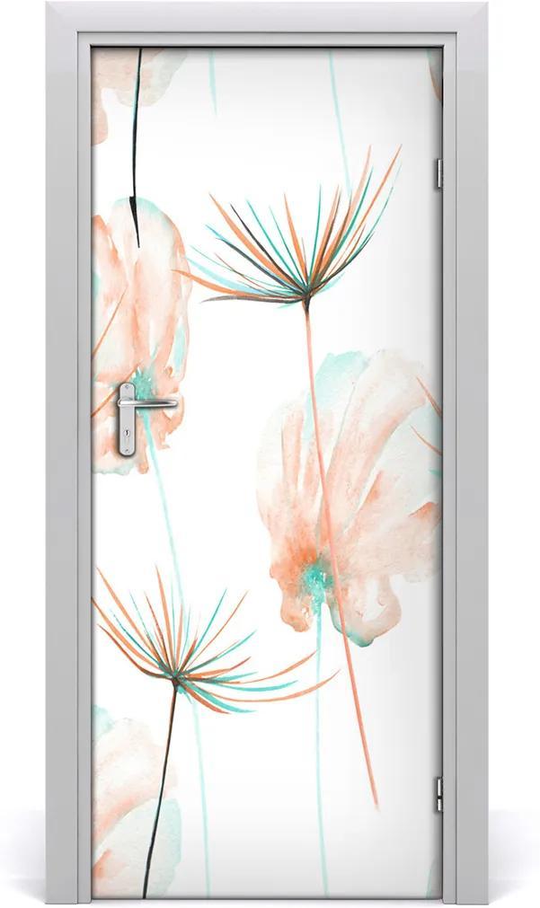 Samolepící fototapeta na dveře Polní květiny