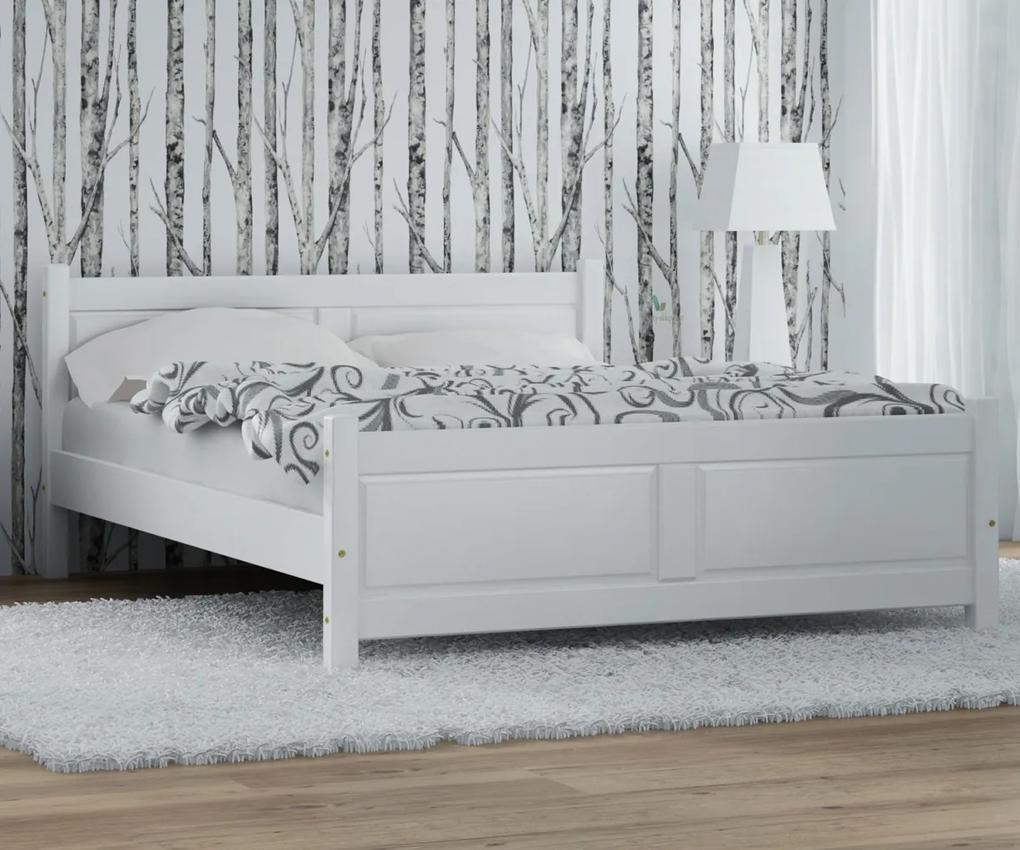 AMI nábytok Posteľ borovica Lena 90x200 biela