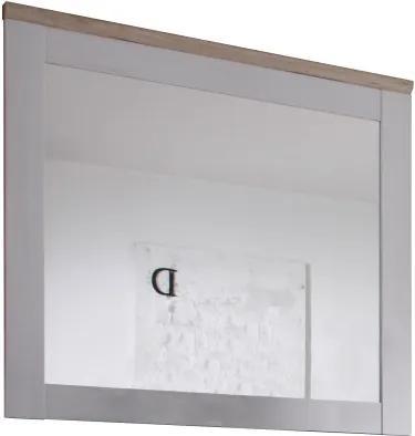 KONDELA Provensal zrkadlo na stenu biela / dub san remo