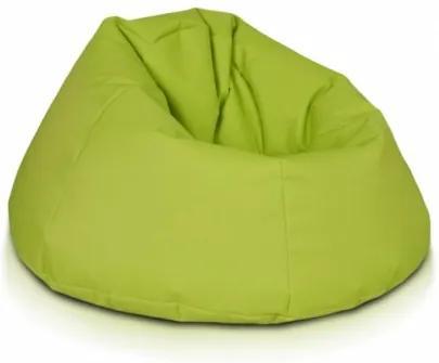 Ecopuf Sedací vak ECOPUF - RELAX - polyester NC1 - Svetlo zelená