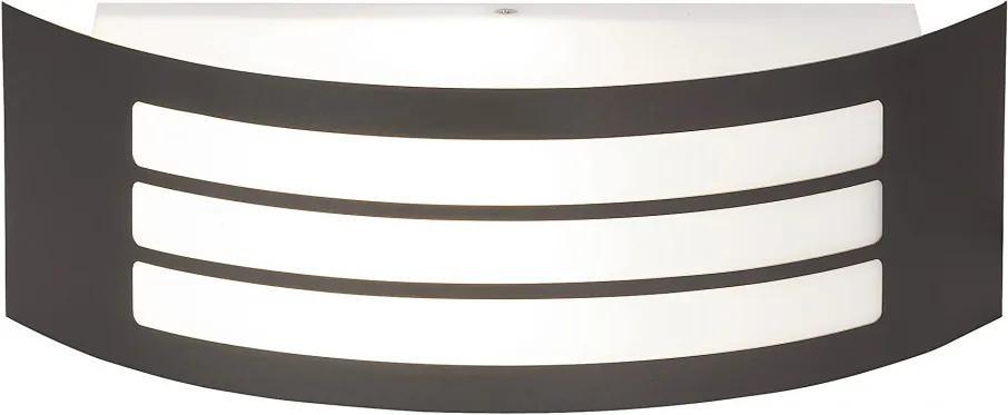 Rábalux 8776 Vonkajšie Nástenné Svietidlá  sivý E27 1X MAX 14W 31,8 x 10 x 9 cm