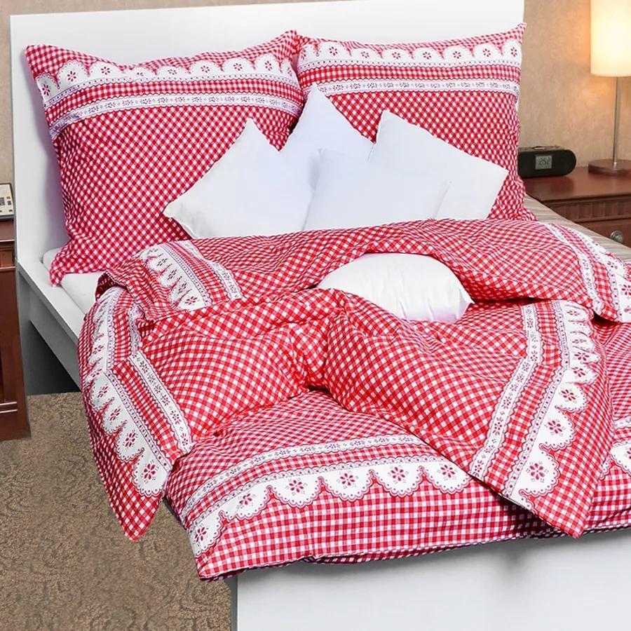 Stanex Luxusné obliečky 100% Bavlna babičkine údolie červené 140x200/70x90 cm