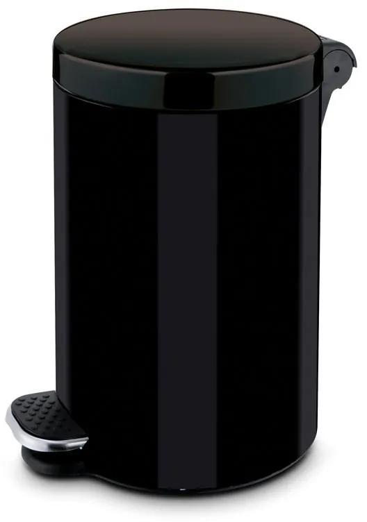 Alda Nášľapný kôš 3 L, lakovaný čierny