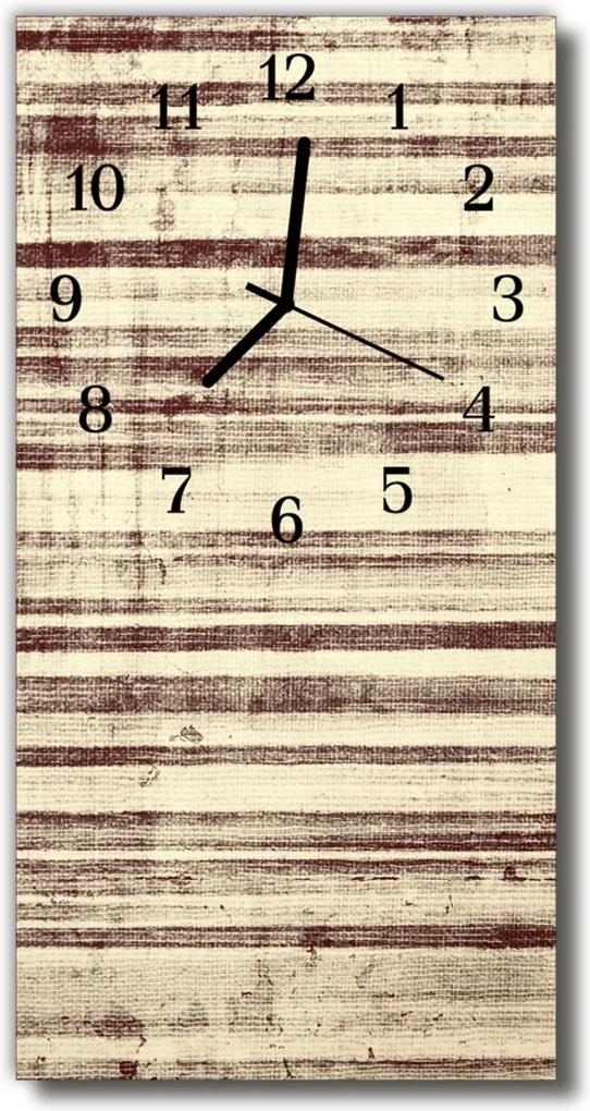 Sklenené hodiny vertikálne  béžová béžová