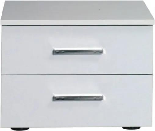 TEMPO KONDELA Asiena nočný stolík (2 ks) biela / biely vysoký lesk