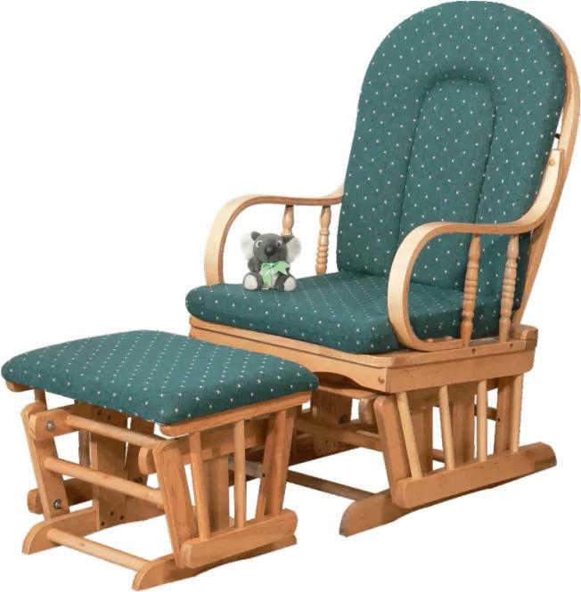 TEMPO KONDELA Relax Glider 87107 relaxačné kreslo buk / zelená