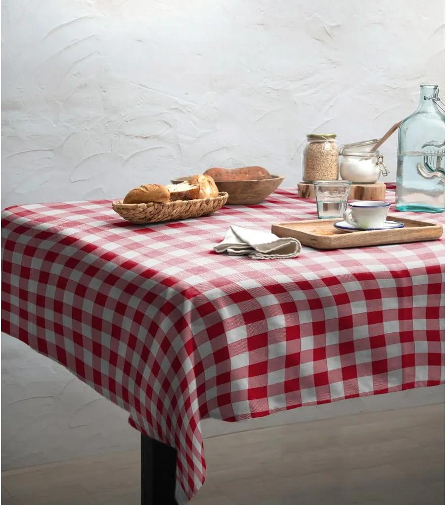 Obrus Linen Couture Red Vichy, 140 x 200 cm