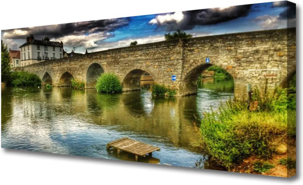 Obraz Canvas Most řeka architektura