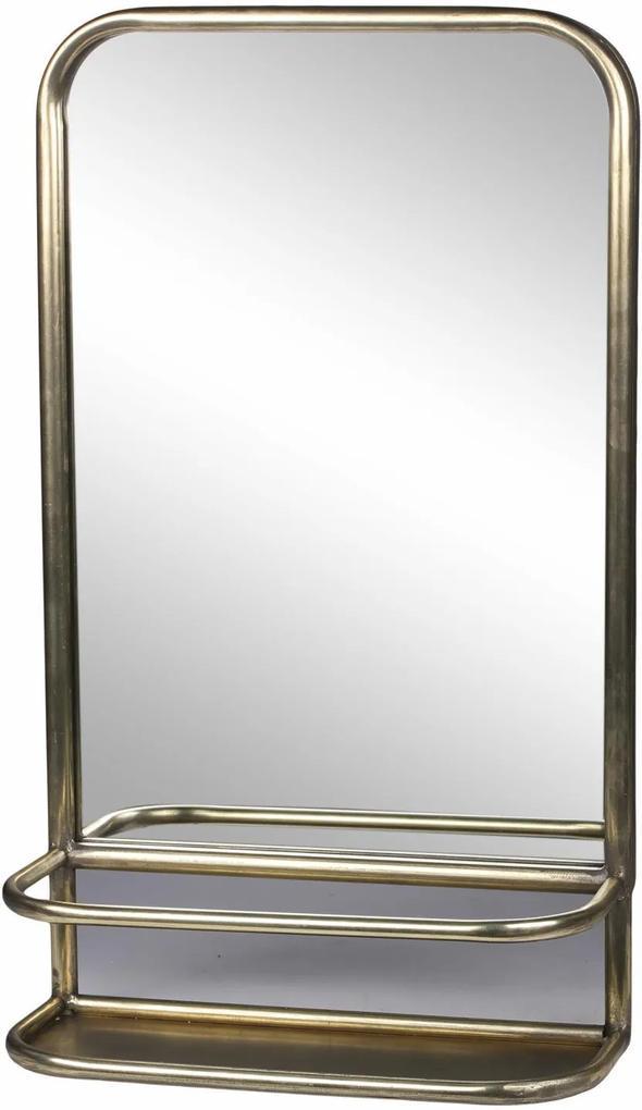 Chic Antique Zrkadlo s poličkou Antique Brass