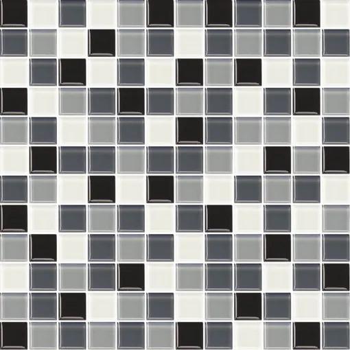 Sklenená mozaika Premium Mosaic šedá 30x30 cm lesk MOS25MIX2