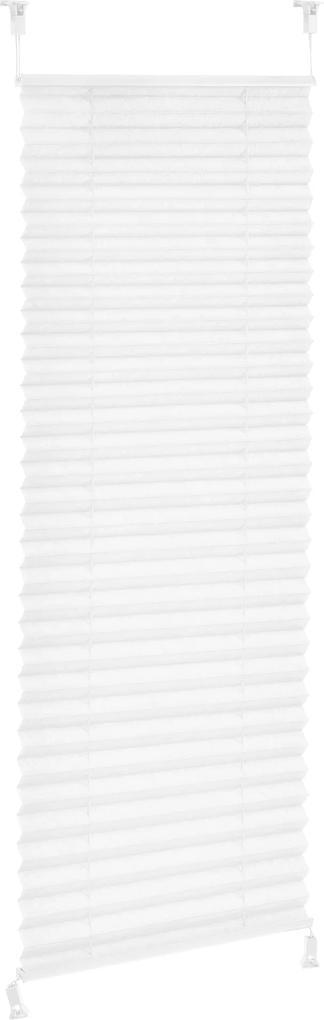 [neu.haus]® Harmoniková Plisse roleta - 55x150 cm - biela - ochrana pred slnkom a svetlom - tienenie - bez vŕtania