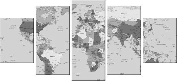 Tlačený obraz Praktická mapa sveta 150x70cm 2202A_5B