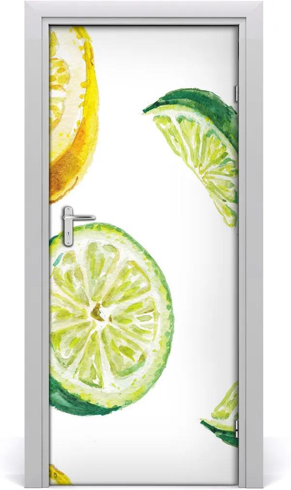 Fototapeta na dveře samolepící Limetky a citrony
