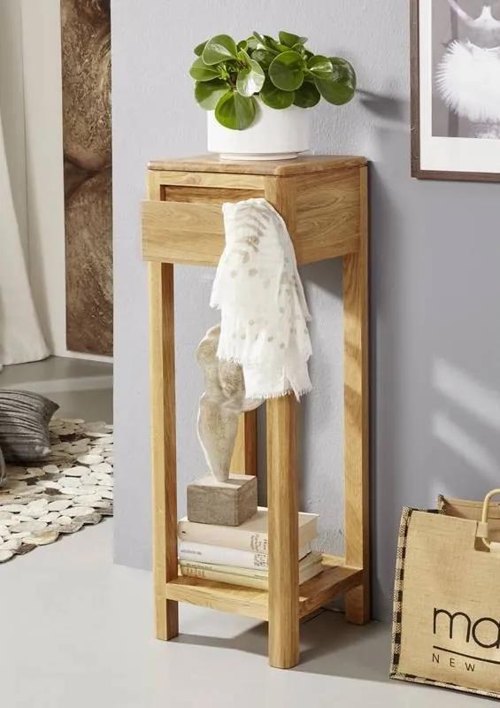 Bighome - VIENNA Príručný stolík30x90 cm, dub