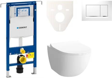 Závesný set WC Sento rim-ex, nádržka Geberit Duofix, tlačidlo Sigma 30 biele SIKOGES4N5