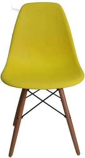 Jedálenská stolička BASIC žltá - škandinávsky štýl
