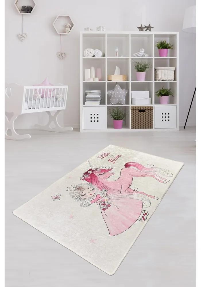 Detský protišmykový koberec Chilam Little Princess, 100 x 160 cm