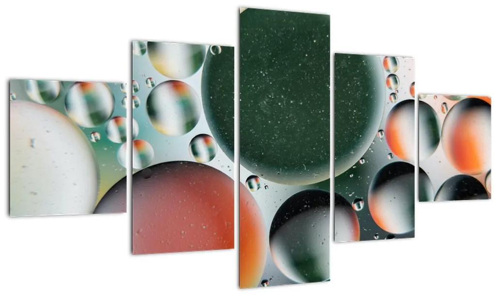 Obraz abstrakcie - bubliny (125x70 cm), 40 ďalších rozmerov