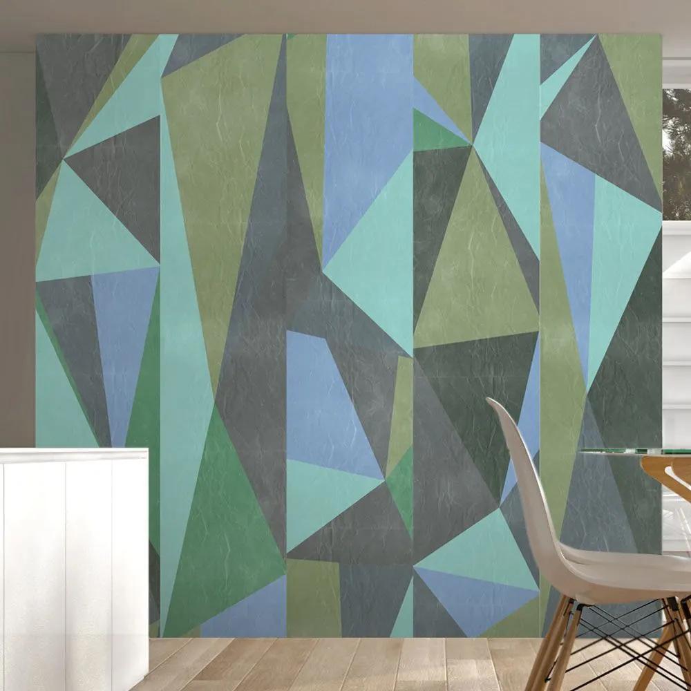 Fototapeta - Gray triangles 50x1000