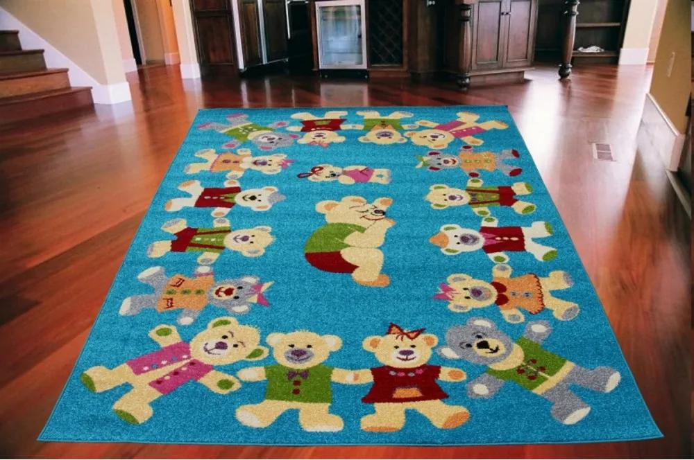 Detský koberec Rob modrý, Velikosti 133x180cm