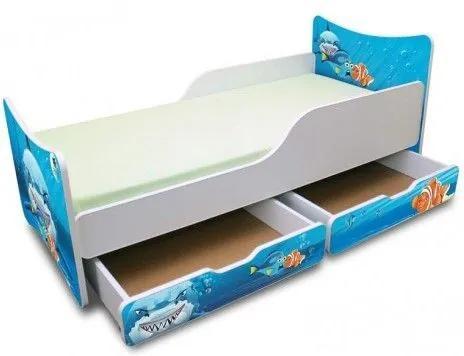 MAXMAX Detská posteľ 160x80 cm so zásuvkou - ŽRALOK 160x80 pre chlapca ÁNO