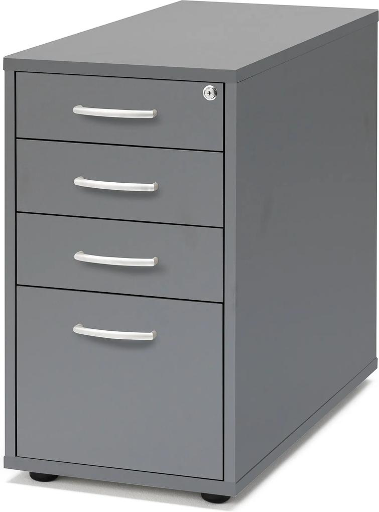 Kancelársky kontajner Flexus, 4 zásuvky, 720x400x800 mm, šedý