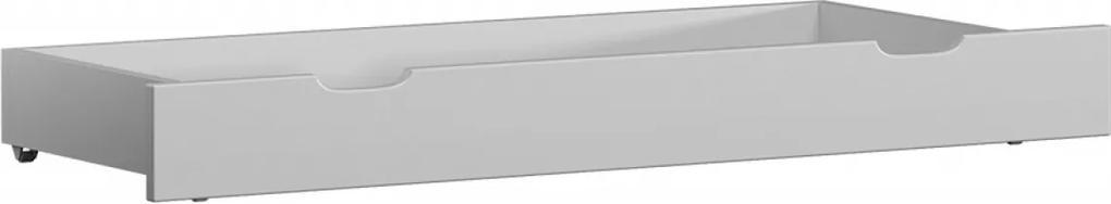 AMI nábytok Borovice šuplík pod postel 198 cm masiv bílý