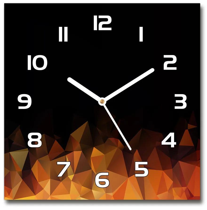 Sklenené hodiny štvorec Abstrakcie pl_zsk_30x30_f_103020861