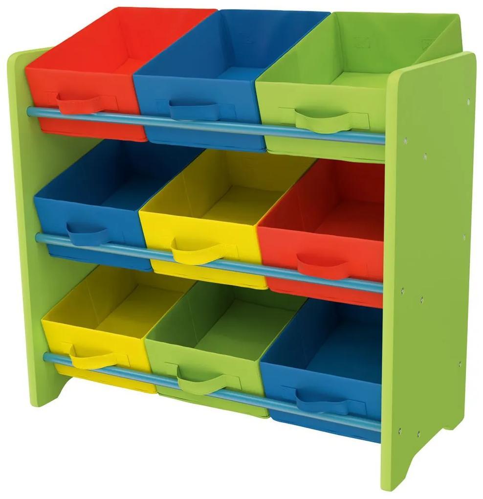 LIVARNOLIVING® Detský prehľadný regál (zelená), zelená (100303533)