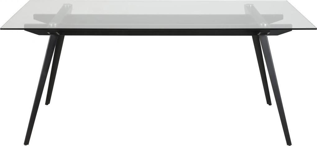 Bighome - Jedálenský stôl MONTI 180x90 cm, číra, čierna