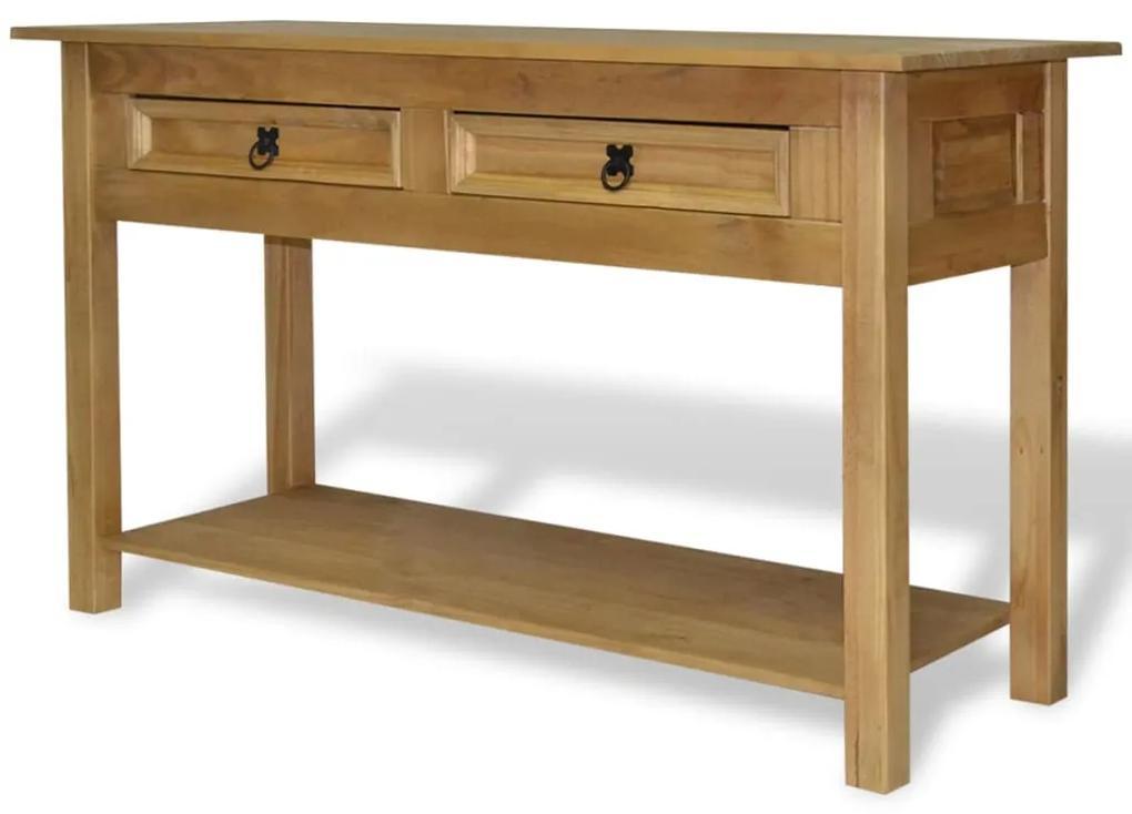 vidaXL Konzolový stolík z borovice v mexickom štýle Corona, 90x34,5x73 cm