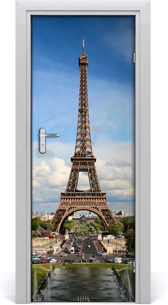 Fototapeta samolepiace na dvere  Eiffelova veža