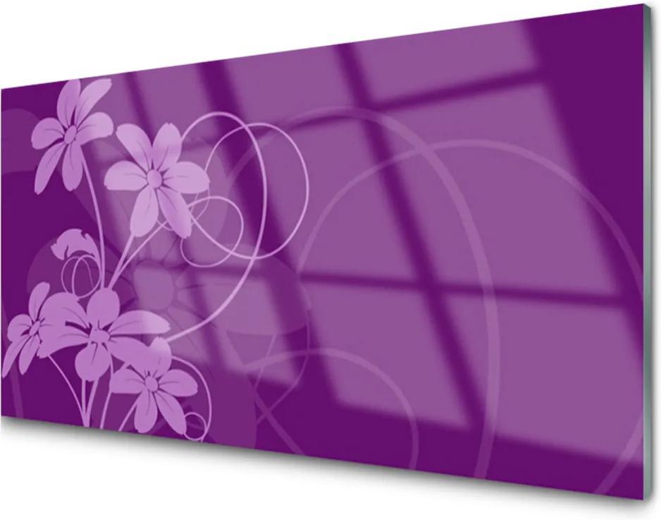 Plexisklo obraz Abstrakcja květiny art